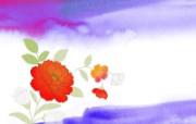水墨花卉 壁纸23 水墨花卉 绘画壁纸