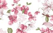 水墨花卉 壁纸24 水墨花卉 绘画壁纸