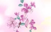 水墨花卉 壁纸26 水墨花卉 绘画壁纸