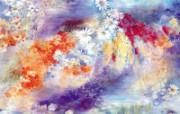 水墨花卉 壁纸29 水墨花卉 绘画壁纸