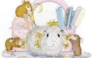 Beauty Parlour 可爱小老鼠插画壁纸 鼠鼠一家温馨小老鼠插画壁纸 绘画壁纸