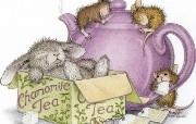 chamomile 可爱小老鼠插画壁纸 鼠鼠一家温馨小老鼠插画壁纸 绘画壁纸