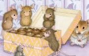 巧克力 可爱小老鼠插画壁纸 鼠鼠一家温馨小老鼠插画壁纸 绘画壁纸