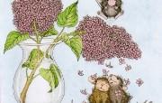 Confeti 可爱小老鼠插画壁纸 鼠鼠一家温馨小老鼠插画壁纸 绘画壁纸