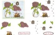 Confeti 可爱小老鼠插画原画 鼠鼠一家温馨小老鼠插画壁纸 绘画壁纸