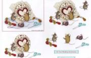 十字绣 可爱小老鼠插画原画 鼠鼠一家温馨小老鼠插画壁纸 绘画壁纸