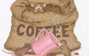 美味咖啡 可爱小老鼠插画壁纸 鼠鼠一家温馨小老鼠插画壁纸 绘画壁纸
