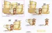 意外 可爱小老鼠插画原画 鼠鼠一家温馨小老鼠插画壁纸 绘画壁纸