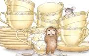 意外 可爱小老鼠插画壁纸 鼠鼠一家温馨小老鼠插画壁纸 绘画壁纸