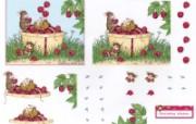 玩耍 可爱小老鼠插画原画 鼠鼠一家温馨小老鼠插画壁纸 绘画壁纸
