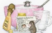 做蛋糕 可爱小老鼠插画壁纸 鼠鼠一家温馨小老鼠插画壁纸 绘画壁纸