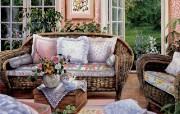 温馨客厅 Susan Rios 浪漫油画 Susan Rios 绘画浪漫花园与温馨的家 绘画壁纸