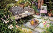 温馨的花园 Susan Rios 油画作品 Susan Rios 绘画浪漫花园与温馨的家 绘画壁纸
