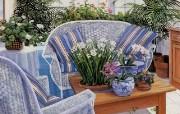 精致田园客厅 Susan Rios 浪漫油画 Susan Rios 绘画浪漫花园与温馨的家 绘画壁纸