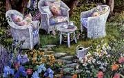 Susan Rios Canvas Painting Special Visit Susan Rios 绘画浪漫花园与温馨的家 绘画壁纸