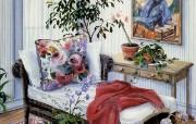 Susan Rios Canvas Painting Planning the Future Susan Rios 绘画浪漫花园与温馨的家 绘画壁纸