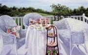 悠闲午后时光 Susan Rios 浪漫油画 Susan Rios 绘画浪漫花园与温馨的家 绘画壁纸