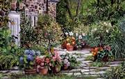 Susan Rios Canvas Painting Visiting Susan Rios 绘画浪漫花园与温馨的家 绘画壁纸