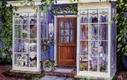 紫色蕾丝 Susan Rios 浪漫油画 Susan Rios 绘画浪漫花园与温馨的家 绘画壁纸