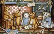 泰迪熊珍藏绘本 第一辑 泰迪熊珍藏 泰迪熊玩具手绘壁纸 泰迪熊珍藏绘本第一辑 绘画壁纸