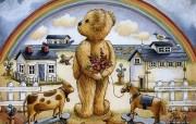 泰迪熊珍藏绘本 第一辑 泰迪熊挂历插画 泰迪熊壁纸 泰迪熊珍藏绘本第一辑 绘画壁纸