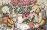 泰迪熊珍藏绘本 第一辑 泰迪熊精美绘画 泰迪熊壁纸 泰迪熊珍藏绘本第一辑 绘画壁纸