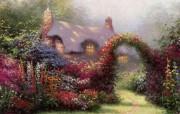 Thomas Kinkade 温馨田园风景油画壁纸 壁纸4 Thomas Kin 绘画壁纸