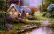 Thomas Kinkade 温馨田园风景油画壁纸 壁纸5 Thomas Kin 绘画壁纸