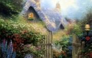 Thomas Kinkade 温馨田园风景油画壁纸 壁纸6 Thomas Kin 绘画壁纸