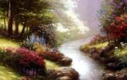 Thomas Kinkade 温馨田园风景油画壁纸 壁纸9 Thomas Kin 绘画壁纸