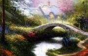 Thomas Kinkade 温馨田园风景油画壁纸 壁纸10 Thomas Kin 绘画壁纸