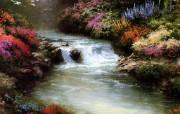 Thomas Kinkade 温馨田园风景油画壁纸 壁纸12 Thomas Kin 绘画壁纸