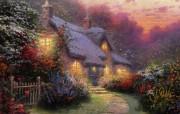 Thomas Kinkade 温馨田园风景油画壁纸 壁纸13 Thomas Kin 绘画壁纸