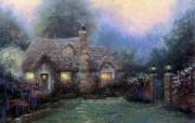 Thomas Kinkade 温馨田园风景油画壁纸 壁纸15 Thomas Kin 绘画壁纸