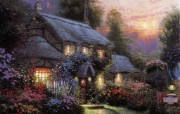 Thomas Kinkade 温馨田园风景油画壁纸 壁纸16 Thomas Kin 绘画壁纸