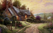 Thomas Kinkade 温馨田园风景油画壁纸 壁纸21 Thomas Kin 绘画壁纸