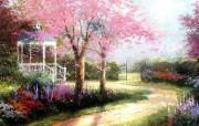 Thomas Kinkade 温馨田园风景油画壁纸 壁纸23 Thomas Kin 绘画壁纸