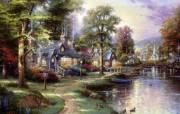 Thomas Kinkade 温馨田园风景油画壁纸 壁纸26 Thomas Kin 绘画壁纸