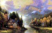 Thomas Kinkade 温馨田园风景油画系列第一辑 绘画壁纸