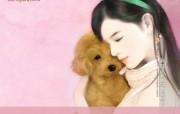 手绘美女 言情小说美女插画 甜美手绘美女插画壁纸第十七辑 绘画壁纸