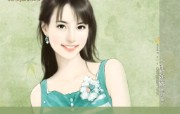 甜美女孩 言情小说美女插画 甜美手绘美女插画壁纸第十七辑 绘画壁纸