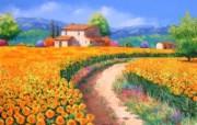 梦幻风景油画壁纸 法国画家Jean Marc Janiaczyk 油画作品 童话法国田园法国画家Jean Marc Janiaczyk 油画壁纸 绘画壁纸