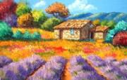 梦幻田园风景油画壁纸 法国风景油画壁纸 童话法国田园法国画家Jean Marc Janiaczyk 油画壁纸 绘画壁纸