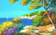 Le pin maritime Art painting by Jean Marc Janiaczyk 童话法国田园法国画家Jean Marc Janiaczyk 油画壁纸 绘画壁纸