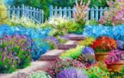 法国花园 法国画家Jean Marc Janiaczyk 油画作品 童话法国田园法国画家Jean Marc Janiaczyk 油画壁纸 绘画壁纸
