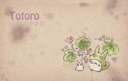 Totoro 龙猫 手绘简约版 壁纸5 Totoro(龙猫) 绘画壁纸