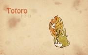 Totoro 龙猫 手绘简约版 壁纸6 Totoro(龙猫) 绘画壁纸