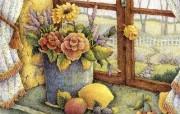 Lisa Blowers 7月的鲜花 温馨古典手绘壁纸 温馨手绘《Welcome Home 》 绘画壁纸