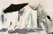 吴冠中江南水乡绘画艺 绘画壁纸