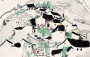 吴冠中江南水乡绘画艺术 壁纸 壁纸2 吴冠中江南水乡绘画艺 绘画壁纸